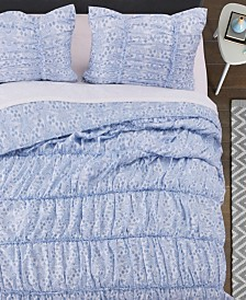 Greenland Home Fashions Helena Ruffle Quilt Set, 3-Piece King