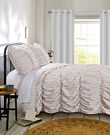 Greenland Home Fashions Farmhouse Chic Quilt Set, 3-Piece Full/Queen