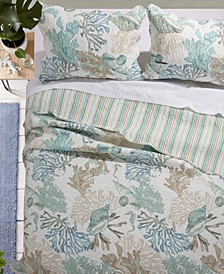Atlantis Jade Quilt Set, 3-Piece King