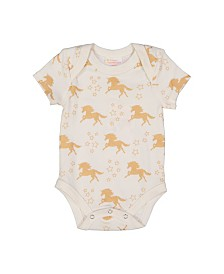 Masala Baby Girl Organic Bodysuit Unicorn Stars