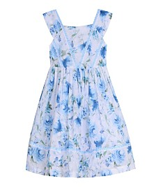 Laura Ashley London Baby Girl's Sleeveless Ruffle Front Party Dress