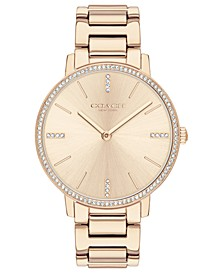 Women's Audrey Carnation Gold-Tone Stainless Steel Bracelet Watch 35mm