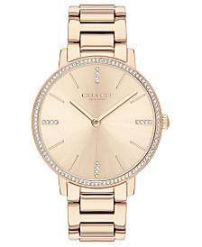 COACH Women's Audrey Carnation Gold-Tone Stainless Steel Bracelet Watch 35mm