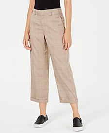 Cropped Roll-Hem Pants