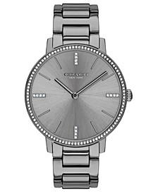 Women's Audrey Gray Stainless Steel Bracelet Watch 35mm