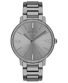 COACH Women's Audrey Gray Stainless Steel Bracelet Watch 35mm