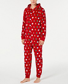 Matching Men's Santa and Friends Hooded Pajamas, Created for Macy's