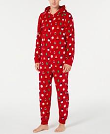 Matching Family Pajamas Men's Santa and Friends Hooded Pajamas, Created for Macy's