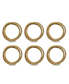 Design Imports Intertwined Napkin Ring Set of 6
