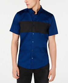 GUESS Men's Luxe Colorblocked Shirt