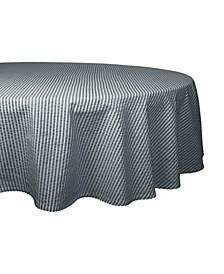 """Seersucker Tablecloth 70"""" Round"""