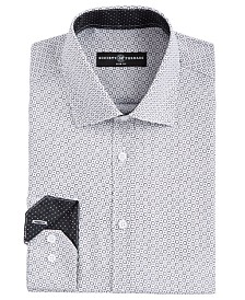 Society of Threads Men's Slim-Fit Moisture-Wicking Wrinkle-Free Geo-Print Dress Shirt