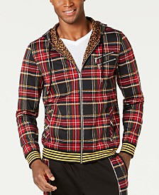 I.N.C. Men's Plaid Zip-Front Hoodie, Created for Macy's