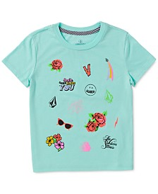 Volcom Toddler & Little Girls Smile-Print T-Shirt