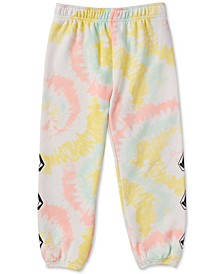 Little & Toddler Girls Tie-Dyed Fleece Jogger Pants