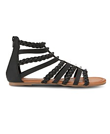 Olivia Miller Btw Braided Strap Sandals