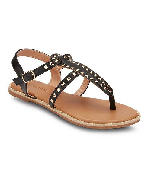 Olivia Miller Passion Fruit Studded Sandals