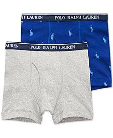 Polo Ralph Lauren Big Boys 2-Pk. Cotton Boxer Briefs