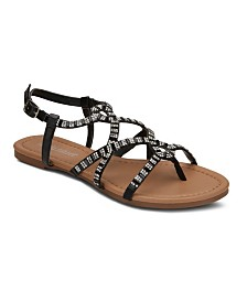 Olivia Miller Girl Boss Embellished Sandals
