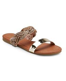 Olivia Miller Twisted Rhinestone Sandals