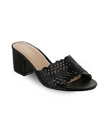 Olivia Miller Lauderhill Laser Cut Mule Sandals