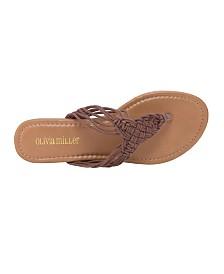 Olivia Miller Gainesville Multi Strap Crochet Sandals