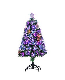 3-Foot High Fiber Optic Color-Changing Tree