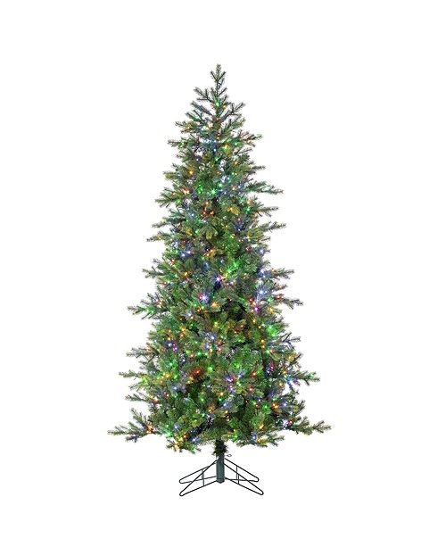 Sterling 6.5-Foot High Pre-Lit Natural Cut Aspen Pine with Instant Glow Power Pole Feature