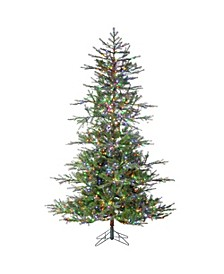 7.5-Foot High Pre-Lit Natural Cut Portland Pine with Instant Glow Power Pole Feature