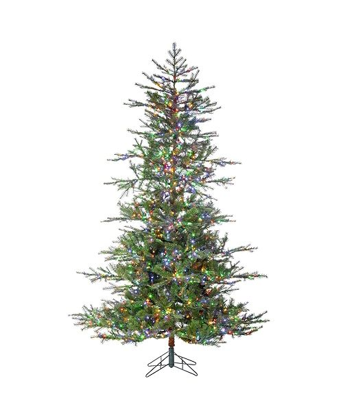 Sterling 7.5-Foot High Pre-Lit Natural Cut Portland Pine with Instant Glow Power Pole Feature