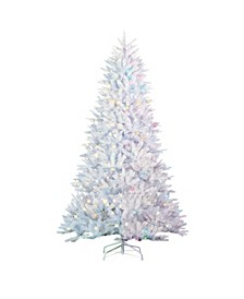 7.5Ft. White Parkview Pine with 600 Color-Changing LED Lights