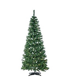 6-Foot High Pop Up Pre-Lit Green PVC Fir Tree with Warm White Lights