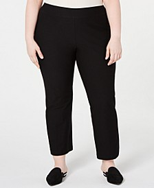 Plus Size Pull-On Cropped Pants
