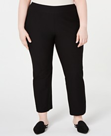 Eileen Fisher Plus Size Pull-On Cropped Pants