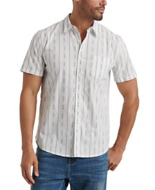 Lucky Brand Men's Striped Geometric Shirt