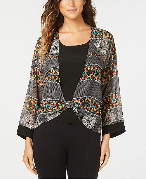 NY Collection Petite Layered-Look Top