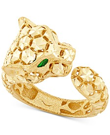 Effy Oro by EFFY® Panther Statement Ring in 14k Gold