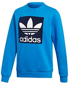 adidas Big Boys Logo-Print French Terry Sweatshirt