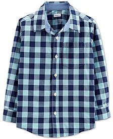 Little & Big Boys Collared Plaid Cotton Shirt