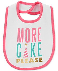 Baby Girls Cotton Birthday Bib