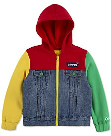 Levi's® Little Boys Crayola Collection Colorblocked Hooded Trucker Jacket