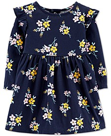Baby Girls Floral-Print Ruffled Cotton Dress