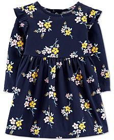 Carter's Baby Girls Floral-Print Ruffled Cotton Dress