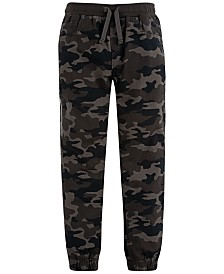Levi's® Big Boys Slim Tapered-Fit Stretch Camouflage Twill Moto Joggers