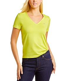 Short Sleeve Classic Jersey V-Neck Tee Shirt
