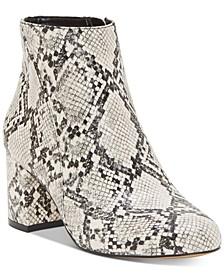 INC Floriann Block-Heel Ankle Booties, Created for Macy's