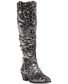 INC Launa Western Sequined Boots, Created for Macy's