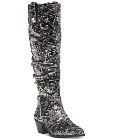 I.N.C. Launa Western Sequined Boots, Created for Macy's