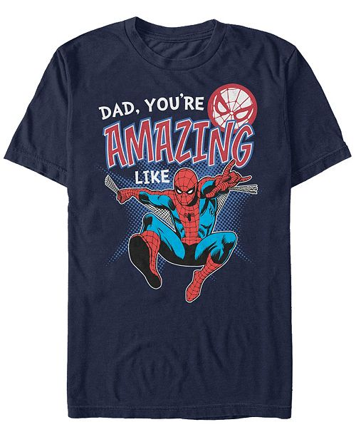 Marvel Men's Comic Collections Amazing Like Spider-Man Short Sleeve T-Shirt