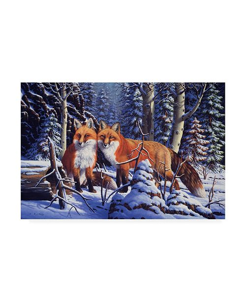 """Trademark Global R W Hedge Touch of Red Canvas Art - 36.5"""" x 48"""""""